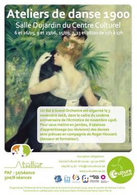 Affiche danse 1900